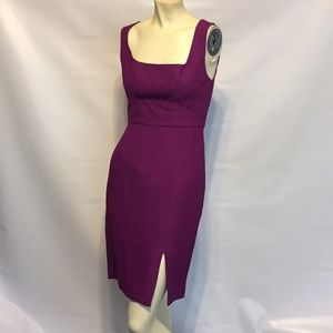Black Halo purple fitted iconic dress size 4